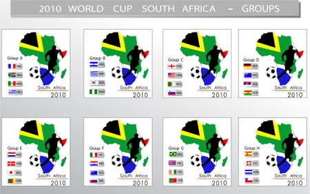 World Cup South Africa balls - Groups Vector