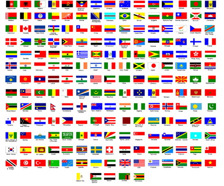 Flags of all countries in the world Stock Vector - 6421246