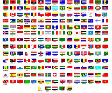 Vlag van alle landen in de wereld