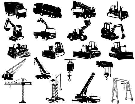 escavadeira: Construction vehicles - collection