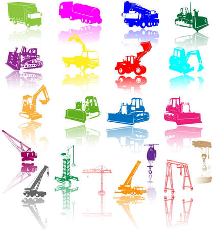 Construction vehicles -  collection  Vector