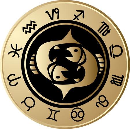 pisces: Horoscope Pisces Illustration