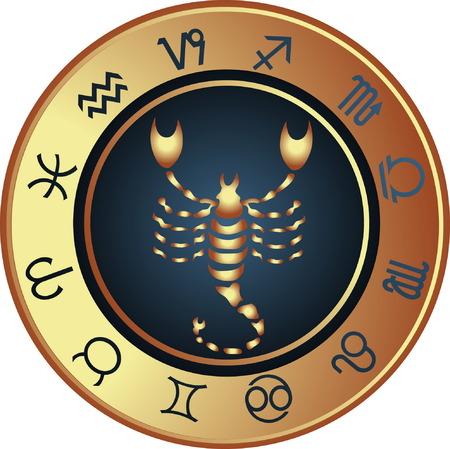 Horoscope Scorpio Vector Illustration