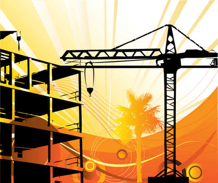 Construction objects  Stock Vector - 6730178