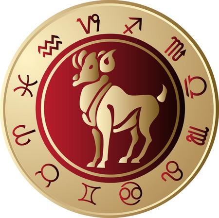 Horoscope Aries Vector