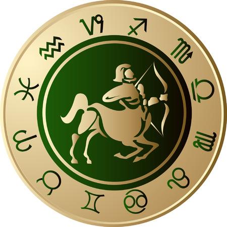 Horoscope Sagittarius Vector
