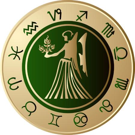 Maagd Horoscoop  Vector Illustratie