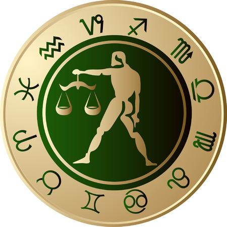 Horoscope Libra Vector