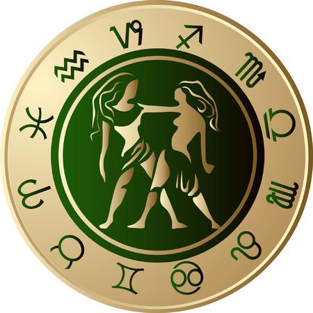 Horoscope Gemini Vector