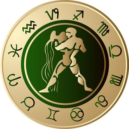 Horoscope Aquarius Vector