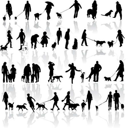 vieil homme assis: illustration des personnes atteintes de chien