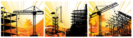 Set of Construction objects background Vector