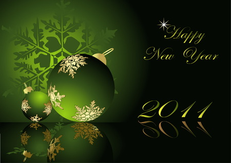Happy New Year background Stock Vector - 7368601
