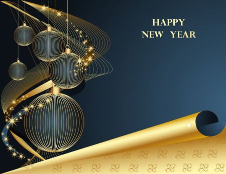 Happy New Year background Stock Vector - 7573039