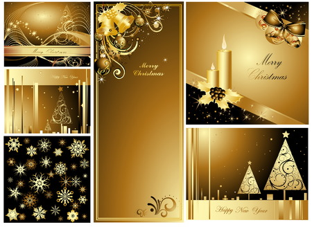 Merry Christmas and Happy New Year collection Stock Vector - 7700213