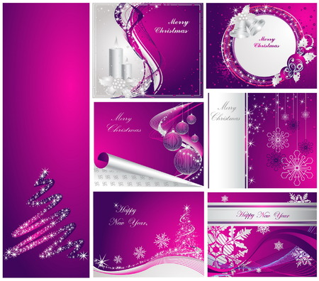 Merry Christmas and Happy New Year collection Stock Vector - 7856213