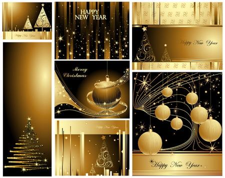 Frohe Weihnachten und glückliches neues Jahr-Auflistung
