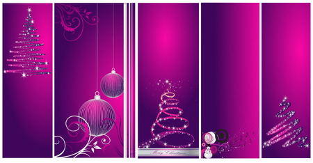 Merry Christmas and Happy New Year collection Stock Vector - 7994135