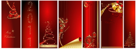 Merry Christmas and Happy New Year collection Stock Vector - 7994369