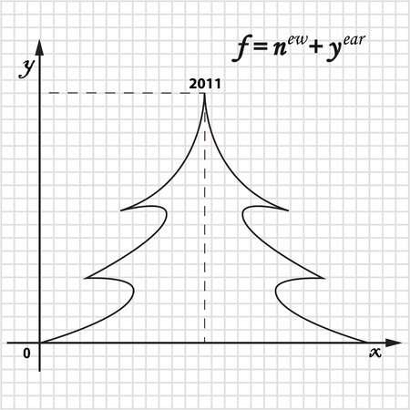 graphic function of New Year Vector