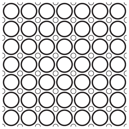 Retro black and white seamless circle background Stock Vector - 8189955
