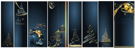 Merry Christmas and Happy New Year collection Stock Vector - 8310519