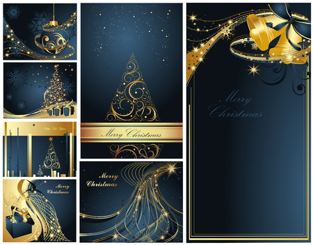 Merry Christmas and Happy New Year collection Stock Vector - 8310503