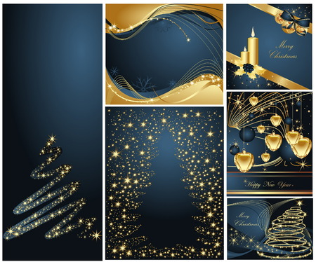 Merry Christmas and Happy New Year collection Stock Vector - 8310514