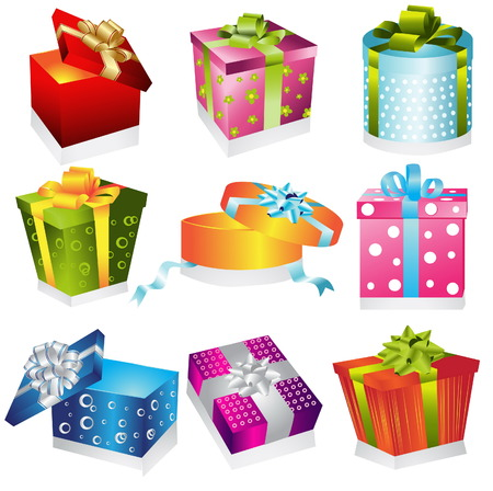 Different gifts illustration Stock Vector - 8386723
