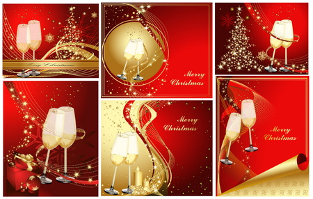 Merry Christmas background collections  Vector