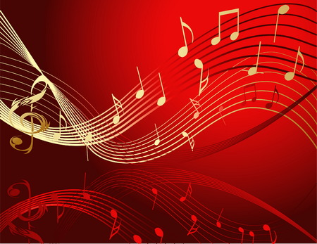 Background with music notes Vector