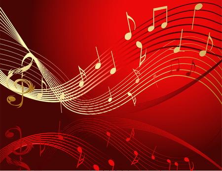 Hintergrund mit Music notes