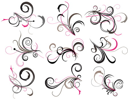 black and pink: Tatuaje abstracto