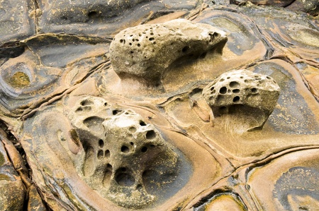 A close up of the surface of the Thailand beach stone Stock Photo - 8755540