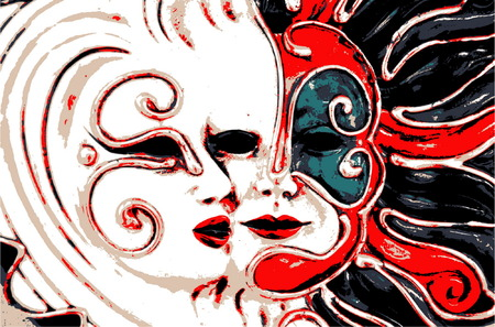 decoration decorative disguise: Carnival Mask Illustration