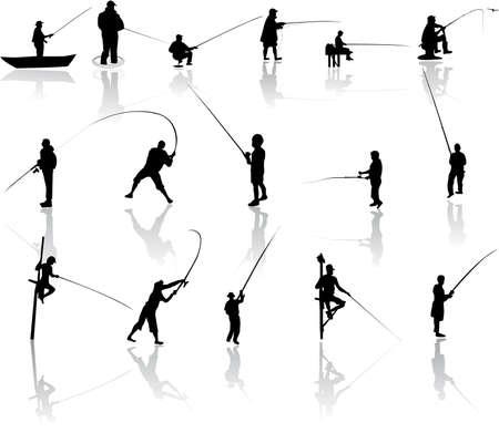 canna pesca: Set di pescatore