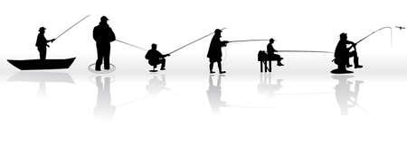 fisher animal: Set of Fisherman
