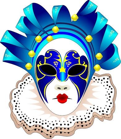 Karneval Frauen Maske Vektor-illustration   Illustration
