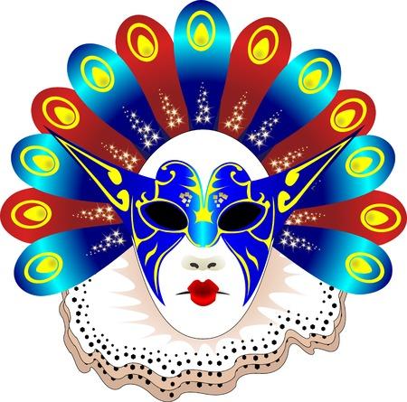 Karneval-Frauen-Maske-Vektor-illustration