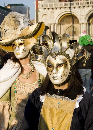 VENICE - FEBRUARY 26, 2011 - Venice Carnival Celebration Event in Saint Mark Square (Venice Carnival 2011)