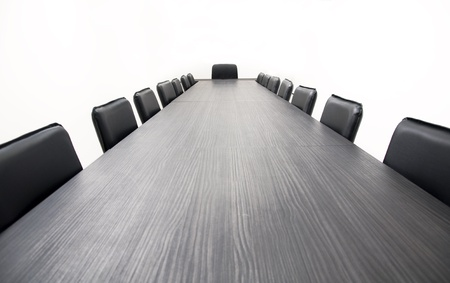 Conference table and chairs isolated on white background Stock Photo - 9157402