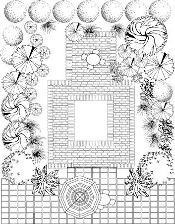 Plan des Gartens
