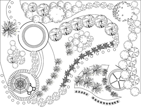 Plan der Landschaft und Garten