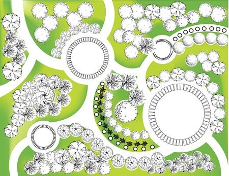 정원 장식 식물의 컬러 계획