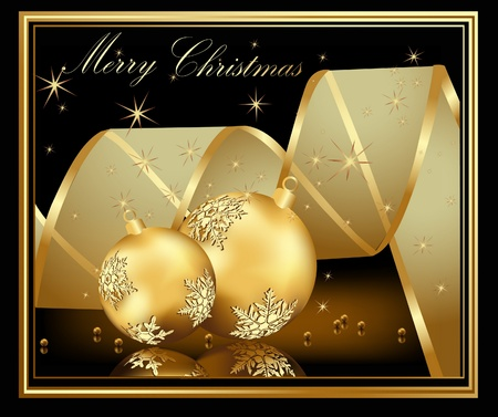 Gold Merry Christmas  background  Stock Vector - 10319954