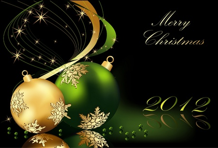 merry christmas background gold and green stock vector 10560386 - Merry Christmas Background
