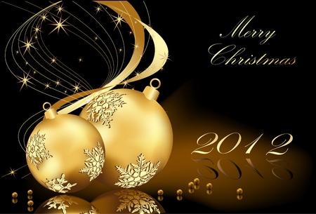 Frohe Weihnachten Gold-Hintergrund Illustration