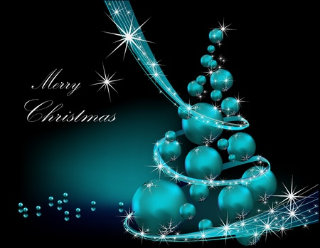 Christmas tree silver and blue Stock Vector - 10653518