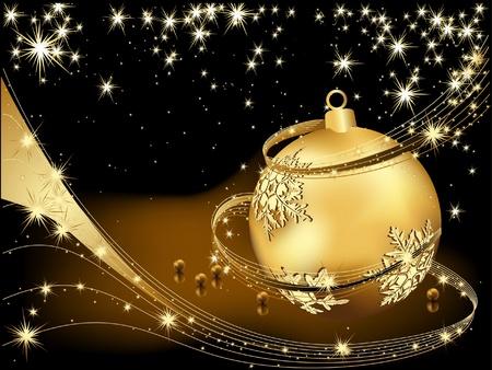 Merry Christmas Hintergrund Gold und Schwarz