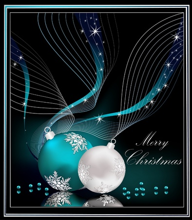 Christmas background silver  and blue Vector